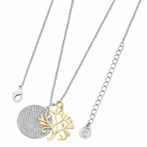 Tipperary Crystal Silver & Gold Tree Of Life Necklace