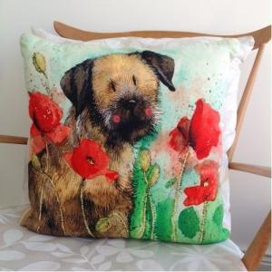 Border Terrier Cushion From Alex Clarke