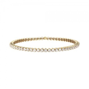 Bronzallure Stretch Tennis Bracelet In Rose Gold