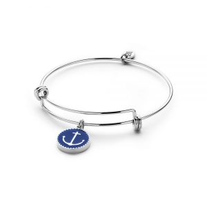 CoCo88 Stainless Steel Bracelet with Anchor Pendant
