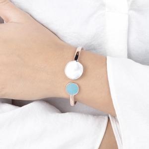 Bronzallure Gemstone Cuff Bracelet
