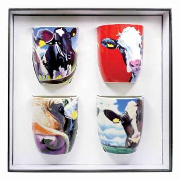 Eoin O Connor Set Of 4 Mugs From Tipperary Crystal