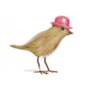 Garden Bird with a Pink Hat From Dcuk