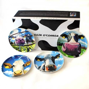 Eoin O Connor Set Of 4 Biscuit Plates