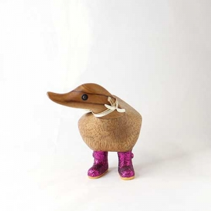 Disco Ducky with Sparkly Pink Welly Boots