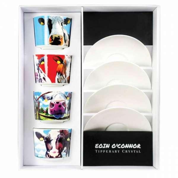 Eoin O Connor Set Of 4 Cappuccino Cups