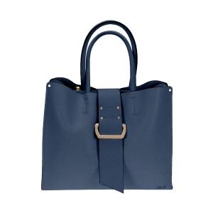 Gionni Front Tab Navy Tote Handbag
