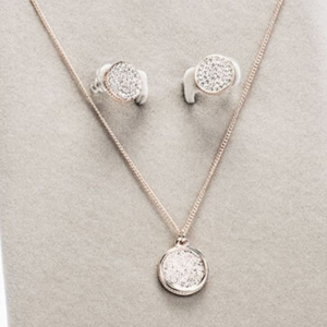 Newgrange Living Rose Gold Diamante Necklace & Earring Set