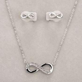 Newgrange Living Silver Infinity Necklace & Earrings