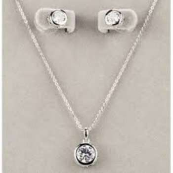 Newgrange Living White Stone Necklace & Earrings