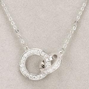 Newgrange Living Silver Interlocking Diamante Necklace