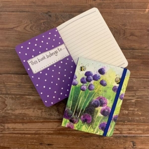 Alex Clark Alliums and Bees Small Chunky Notebook