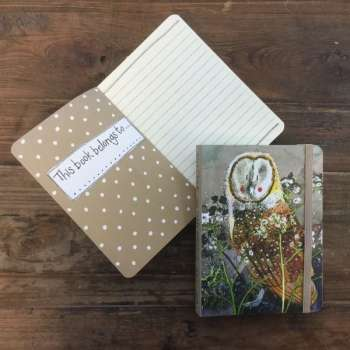 Alex Clarke Barn Owl Small Chunky Notebook