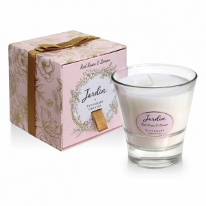 Tipperary Crystal Red Roses & Lemon Jardin Candle