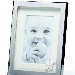 Newgrange Living Silver Baby & Car Photo Frame