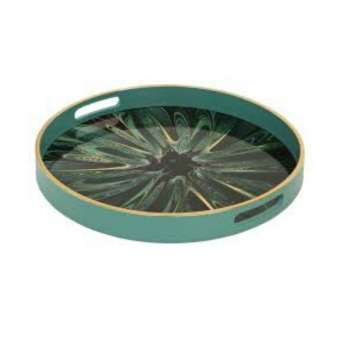 Mindy Brownes Serving Tray Green Envy