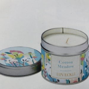 Loveolli Cotton Meadow Candle In a Tin