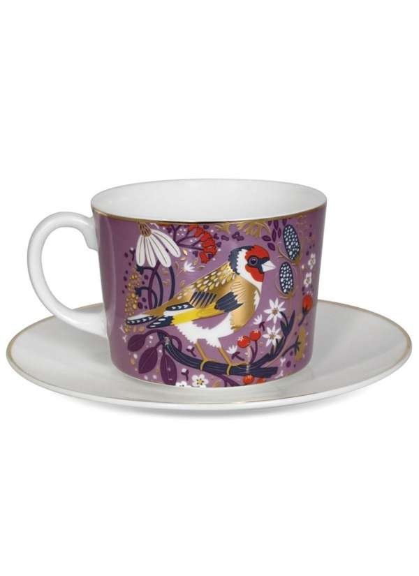 Tipperary Birdy Set Of Goldfinch & Bullfinch Cappuccino Cups