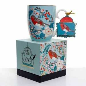 Tipperary Single Birdy Mug - Robin