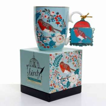 Tipperary Single Birdy Mug - Robin