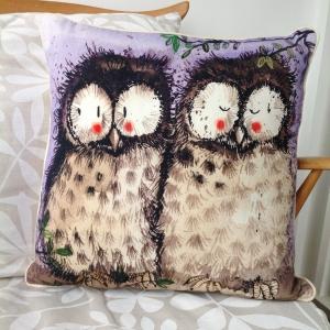 Alex Clarke Duo Owl Cushion
