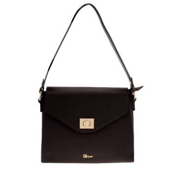 Dice Nyoro Flapover Black Shoulder Bag