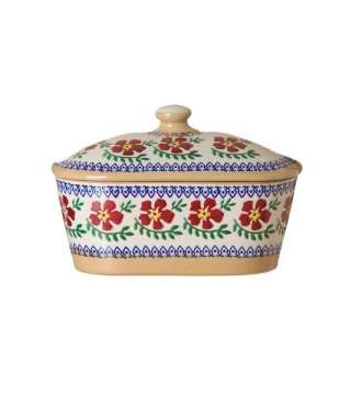 Nicholas Mosse Covered Butterdish Old Rose