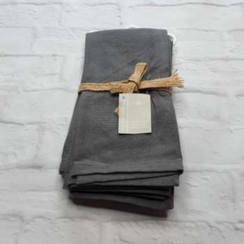 Walton 100 % Cotton Napkin storm grey (set of 4)