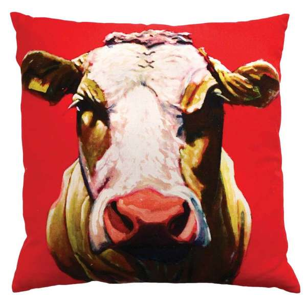 Eoin O Connor Pull The Udder One 45cm Cushion.