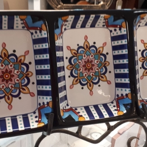Slaneyside Pottery Blue Marrakesh Trio Dip Dish