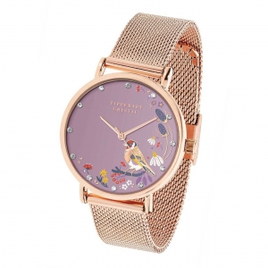Tipperary Crystal Goldfinch Rose Gold Birdy Watch