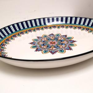 Slaneyside Pottery Blue Marrakesh Oval Platter