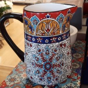 Slaneyside Pottery Red Marrakesh large Jug
