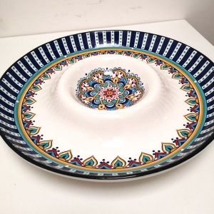 Slaneyside Pottery Blue Marrakesh Chip And Dip Dish