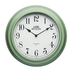 Living Nostalgia Analogue Wall Clock Sage Green
