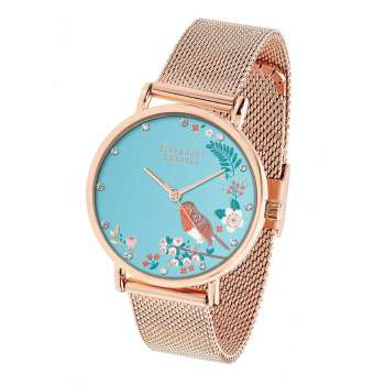 Tipperary Crystal Robin Rose Gold Birdy Watch