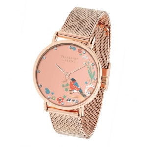 Tipperary Crystal Bullfinch Rose Gold Birdy Watch