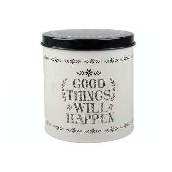 Stir It Up Good Things Storage Tin White