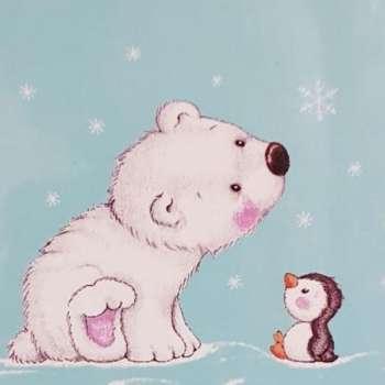 Polar Bear Soft Fleece Blanket Boxed