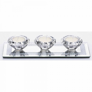 Newgrange Living Gemstone T-Light Holder Set of 3