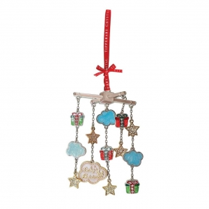 Tipperary Crystal Baby's 1st Christmas Mobile Decoration