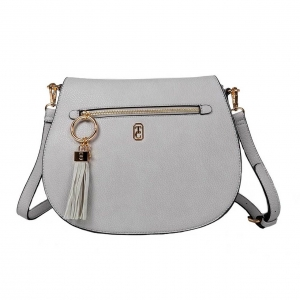 Tipperary Crystal Savoy Large Satchel Bag Grey