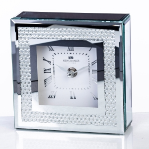 Newgrange Living Gemstone Silver Clock
