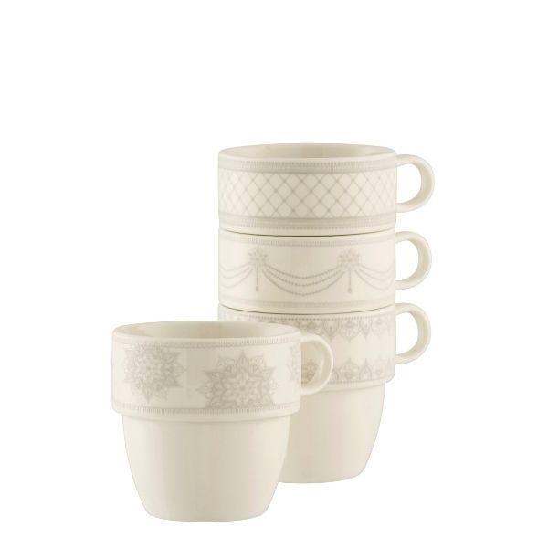 Aynsley China Charbagh Set of 4 Stacking Mugs