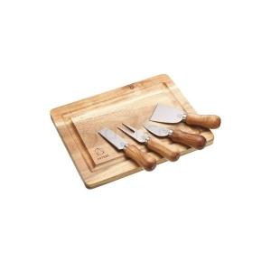 Artesà Acacia Wood Cheese Board & Knife Set