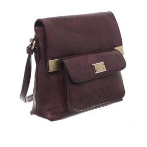 Bessie Bucket Crossbody Bag With Back Zip Pocket Purple