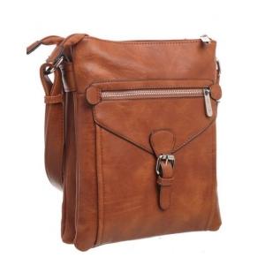 Bessie Front Buckle Zip Top Cross Body Bag