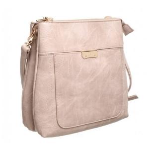Bessie Grey Classic Bucket Crossbody Bag