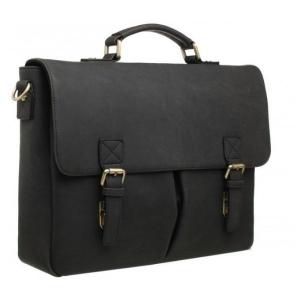 Bobby Black Front Pocket Black Laptop Bag