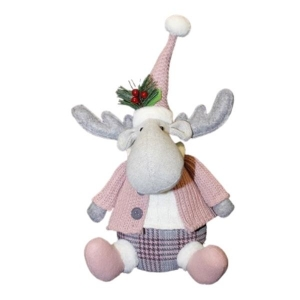 Enchante Winter Blush Sitting Moose